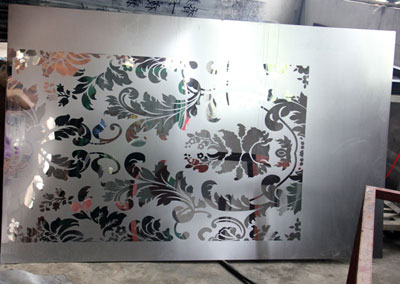 etching Decoration Plate sample